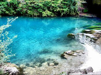 Удивительной красоты Голубое озеро