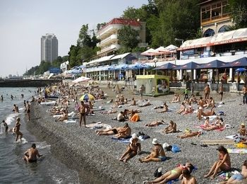 Песчаные и галечные Сочинские пляжи