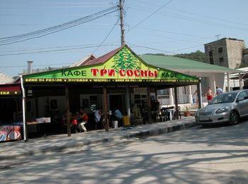Известное всеми местное кафе Три сосны