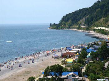 Центральный галечный пляж