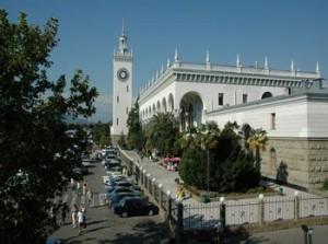 Железнодорожный вокзал в Сочи - один из самых красивых в Краснодарском крае