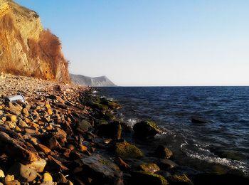 Очень удобный вход в море, галечный пляж 40 летия победы