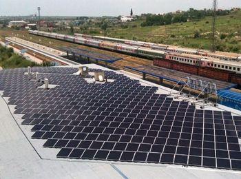 Система светодиодного освещения, солнечные батареи  на крыше здания
