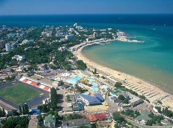 Курортный город Анапа на побережье Черного моря