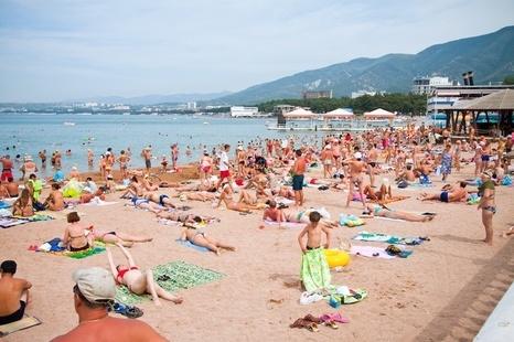пляж в геленджике фото