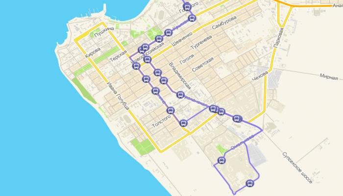 Путь маршрутки №134