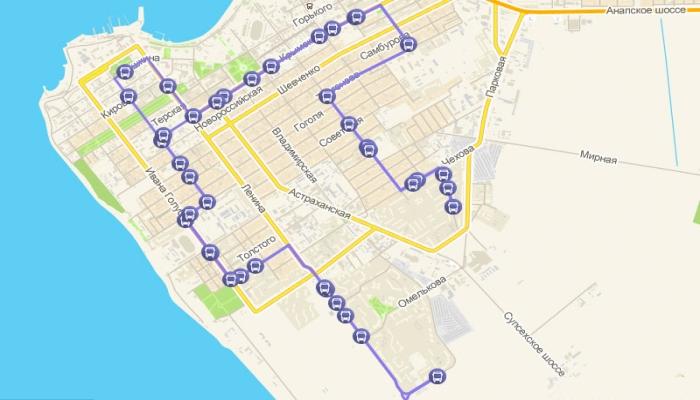 Так выглядит анапский маршрут такси №8