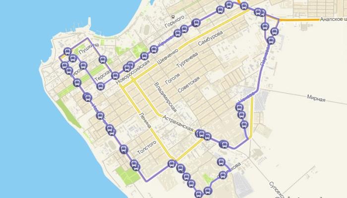 Изображения маршрута №9 в Анапе