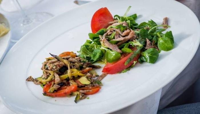 Одно из блюд, приготовленных поварами La Terrazza
