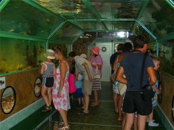Тоннельный аквариум Батискаф в городе Визятево