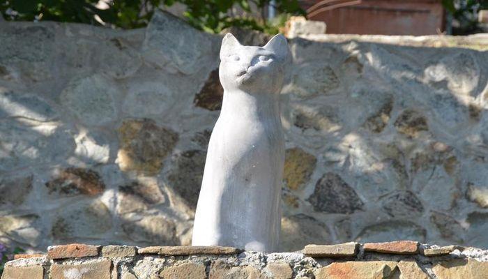 Кот сделан из бетона