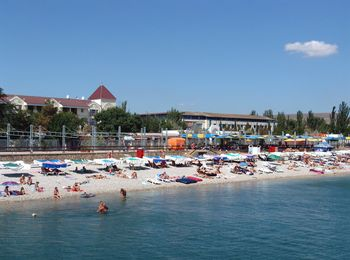 Пляж пансионата Приморье