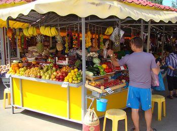 Продукты желательно покупать на рынке или в супермаркете