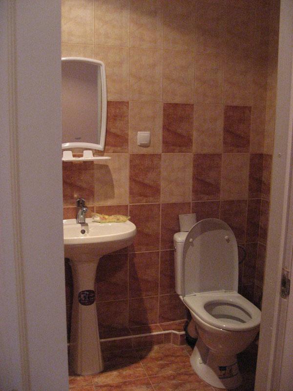 Ванная комната в номере базы отдыха Мечта