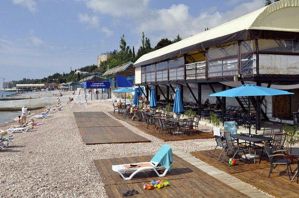 Пляж кафе Прибой
