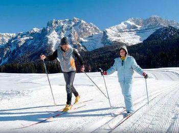 Езда на лыжах с инструктором