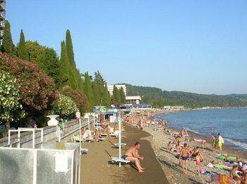 Пляж пансионата Песчаный берег