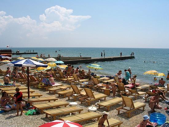 Пляж посёлка Приморский