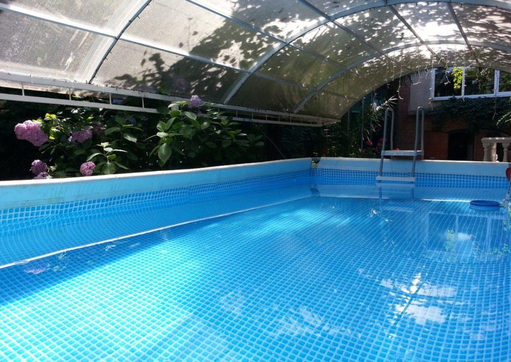 Крытый каркасный бассейн