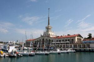 Сочи - вид на морской вокзал